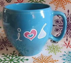 Hersheys Kiss Kisses I love Coffee Mug Cup Blue 2005 Jaxxi It's Coool