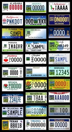 Spread the word, increase donation, and support your local registry by purchasing a specialty license plate from your state! #donatelife