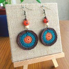 Orange Seed Earrings Crochet Earrings by TipsyGypsyCrochet on Etsy
