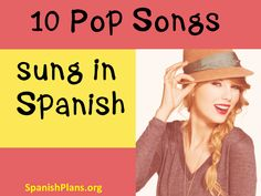 English Pop Music in Spanish Taylor Swift songs in Spanish? You know your students will be running to class to hear this! Check out the Spanish version of these 10 hit songs! Spanish Courses, Spanish Songs, How To Speak Spanish, Learn Spanish, Spanish Games, Learn French, Spanish Phrases, Spanish Practice, Study Spanish