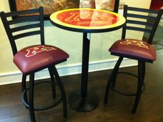 Minnesota Golden Gopher pub table & chairs! Peters Billiards, Minneapolis, MN.