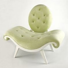 Green Funky Chair, Unique curved seating for 2