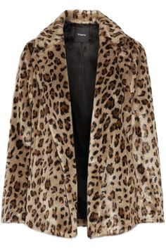 Theory - Clairene Leopard-print Faux Fur Jacket - Leopard print