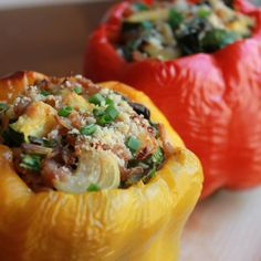 Farro & Veggie Stuffed Peppers recipe on Food52...