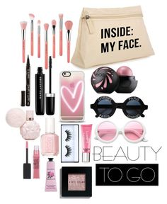 """""""Beauty on the go"""" by differentisme ❤ liked on Polyvore featuring beauty, Chanel, Marc Jacobs, Smith & Cult, Bdellium Tools, Casetify, ZeroUV, Maybelline, Huda Beauty and Beauty Rush"""