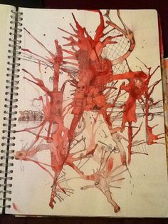 Great idea. Ink splats then draw with biro what you can see in the splats using your imagination (Ms Holden)