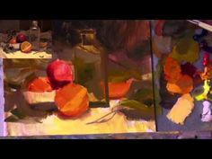 In this http://ArtistsNetwork.tv preview of Painting Still Lifes: Glass & Steel in oil paint with Richard Robinson you'll learn how colorful underpainting, edges and color temperature can create realistic effects.