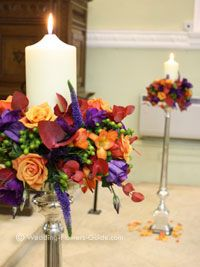candle wedding decorations with flowers for church - perfect flowers for my fall wedding