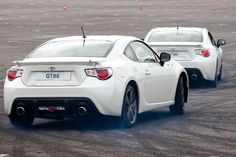 White GT86s face-off