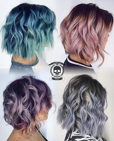 Hair and Beauty Magazine. Step by Step Hair How-Tos. Free Photo gallery of hair styles. Hair Books and DVD Online store. Dye My Hair, New Hair, Curly Hair Dye, Hair 24, Frizzy Hair, Coloured Hair, Colored Short Hair, Pretty Hairstyles, Hairstyles Pictures
