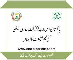 Pakistan Vs Afghanistan International Disability Cricket Series 2015