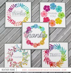 handmade greeting cards: Wreath Builder Stencil Cards by Heather Ruwe Card Making Inspiration, Making Ideas, Wondrous Wreath, Karten Diy, Rainbow Card, Stampin Up, Marianne Design, Thing 1, Card Tags