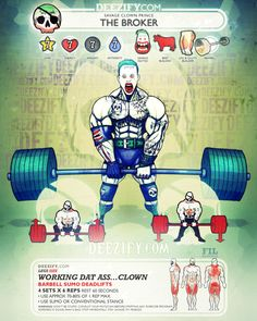 leg exercise:Joker - Ass Clown Deadlifts