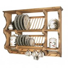 plate racks Penny Pine Exmoor Display in Traditional Pine Smart Kitchen, Kitchen On A Budget, Kitchen Redo, Kitchen Design, Kitchen Benches, Kitchen Shelves, Kitchen Storage, Kitchen Cabinets, Hub Home