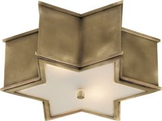 Sophia Brass Star Flush Mount Light.  It also comes in Nickel and Gunmetal- love!!!