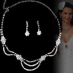 Beautiful Silver Engagement Wedding Bridal Fashion Jewelry Sets for Bridesmaid Online SKU-10801054