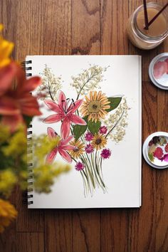watercolor flowers / wit & whistle painting