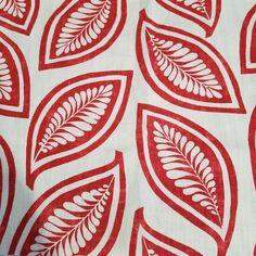 P/Kaufman Fabric Remnant Leaf Forever Scarlet Red Home Decor Cotton Tropical #PKaufmann Red Home Decor, Home Decor Fabric, Kitchen Fabric, Fabric Hearts, Fabric Remnants, Striped Fabrics, Red Fabric, Leaf Prints, Scarlet