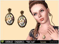 Severinka_'s Vintage earrings 'Viola'