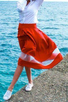 Купить Юбка модель 811623 - белый, однотонный, платье, платье летнее, платье…