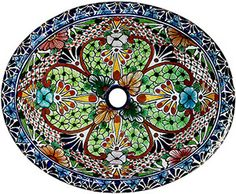 Talavera sinks feature wonderfully intricate floral and animal patterns that will become the highlight of any bathroom decor! The ceramic of these Talavera sinks is hand-painted in Dolores Hidalgo, Mexico, and embodies all the classic charm of Mexican Talavera. Available in two sizes, all Talavera sinks from La Fuente Imports