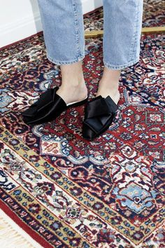 What's prettier - the shoes or the rug?
