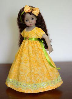 """SOLD """"Harvest Time"""" Regency Dress, Outfit for 13"""" Dianna Effner Little Darling…"""
