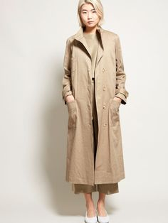 No. 6 Lloyd Duster Coat - Khaki Cotton Twill