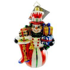 Polish artist and designer of fine handcrafted ornaments -- Snowman bearing gifts!! Radko RINGING IN THE CHEER 1016153 Ornament Dated 2012 Snowman New Radko http://www.amazon.com/dp/B00CVGDFXU/ref=cm_sw_r_pi_dp_WPhEub0RAVJ0T