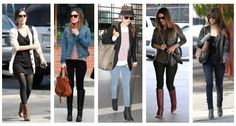 Rachel seems to have an array of boots that she wears frequently.