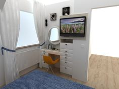 Bedroom Desk, Small Spaces, My Design, Living Room, Board, Kitchen, Table, Furniture, Cooking