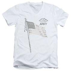 Army - Tristar Adult V-Neck T-Shirt