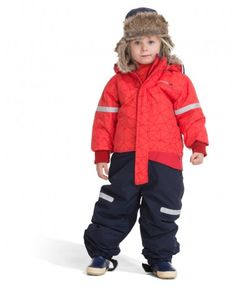 Didriksons Yori Printed Kids Snowsuit - Poppy
