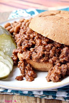 Homemade Sloppy Joes ~ ditch the store-bought can of sauce for these quick and easy, all-natural Sloppy Joes with no additives or preservatives...and they taste better, too!   FiveHeartHome.com