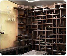 Cube Contemporary Wine Racking by Genuwine Cellars Custom Wine Cellars