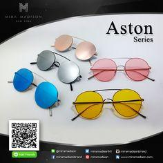 ASTON Series  Sunglasses   Mira Madison  (แว่นรุ่น แอสตัน) แว่นรุ่นแอสตัน ออกแบบโครงเลนส์แว่นเป็นทรงกลม  และมีสะพานโค้งจมูก 1 เส้น เป็นโลหะเบาบาง จุดเด่น แว่นรุ่นพอตเตอร์ เป็นวัสดุเบาและบาง จมูกแว่นเป็นซิลิโคลน (ไม่ทำให้เป็นรอยที่จมูก) สีเลนส์ทั้งหมด เลนส์สีเหลืองใส เลนส์สีชมพูใส เลนส์สีปรอทเงิน เลนส์สีปรอทชมพู เลนส์สีปรอทฟ้า เปิดขายเร็วๆนี้ Coming Soon !!! Follow IG : miramadisonbrand LINE ID : @miramadison Pinterest : miramadison Twitter : miramadisonNY www.miramadison.com