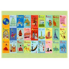 Oopsy Daisy Placemats Exploring the World From A-Z @Layla Grayce
