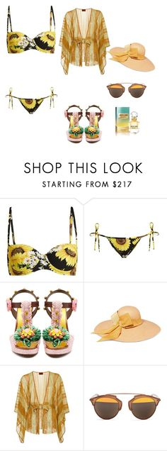 """""""Summer vibes!"""" by mirelaaljic ❤ liked on Polyvore featuring Dolce&Gabbana, Sensi Studio, Missoni Mare, Christian Dior, Roberto Cavalli, summerstyle, polyvorefashion and summer2017"""