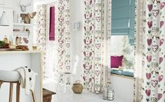Perdele si draperii bucatarie Gardisette Sun Shade, Valance Curtains, Flooring, Interior Design, Mirror, Luxury, Wallpaper, Germania, Modern