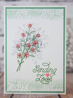 Stampin' Up! UK Feeling Crafty - Bekka Prideaux Stampin' Up! UK Independent Demonstrator: Sending Love with Touches of Texture