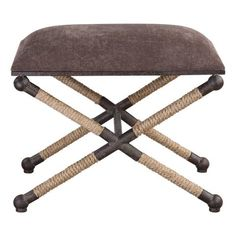 Uttermost 23398 Evert 24 Inch Wide Iron Frame Accent Stool by Grace Feyock Rustic Taupe Brown Indoor Furniture Stools Accent Entryway Furniture, Furniture For Small Spaces, Accent Furniture, Office Furniture, Furniture Buyers, Furniture Market, Office Chairs, Cheap Furniture, X Bench
