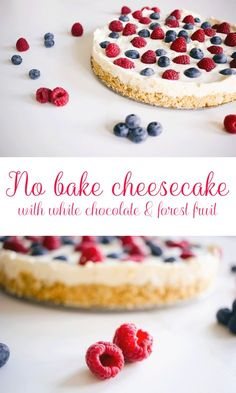 Recipe: No bake cheesecake with white chocolate & forest fruit