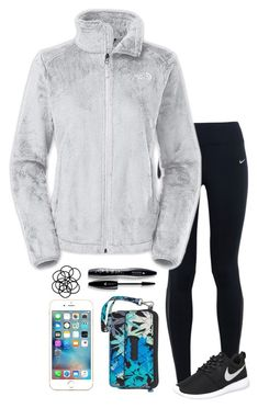 """Lunch With My Brothers"" by mpickett17 ❤ liked on Polyvore featuring NIKE, The North Face, Apple, Lancôme, Vera Bradley and Monki"