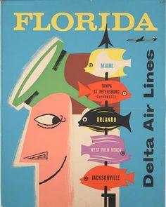 Delta's 1957-1961 travel poster