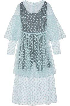 Paskal | Polka-dot flocked tulle midi dress | NET-A-PORTER.COM