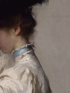 Preparing for the Matinee by Edmund Charles Tarbell, 1907 (Détail)