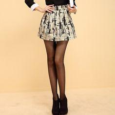 Shiny Retro High Waist Bubble Skirt Bubble Skirt, Get The Look, Skater Skirt, High Waist, Bubbles, Mini Skirts, Retro, Outfits, Shopping