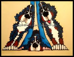 MAGGIE BRUDOS  bernese mountain Dog support by tangerinestudio, $95.00