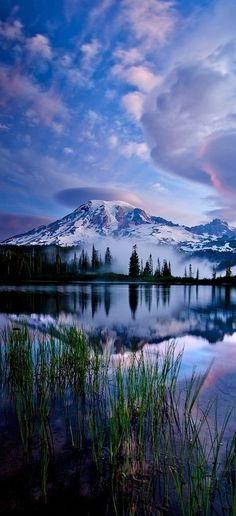 Reflections of Mt. Rainier, Washington by Paul Bowman. See more at http://glamshelf.com