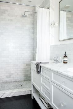 Bathroom designed by Katie Martinez Bathroom, guaranteed to inspire your next bathroom remodel or renovation, via @sarahsarna.